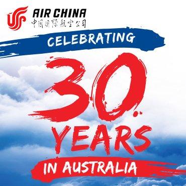 Air China – Celebrating 30 Years in Australia